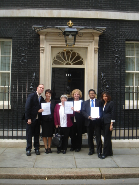 ACT NOW - press release and visit to Downing Street